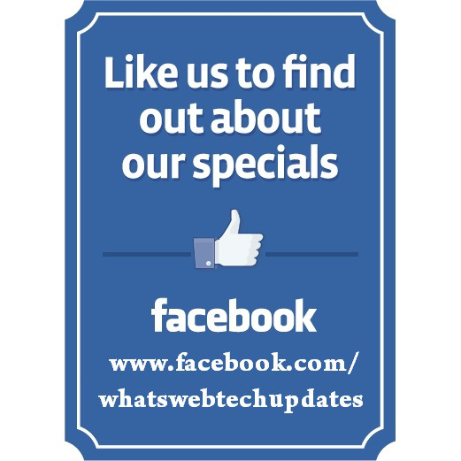 About us whatsweb for Like us on facebook sticker template